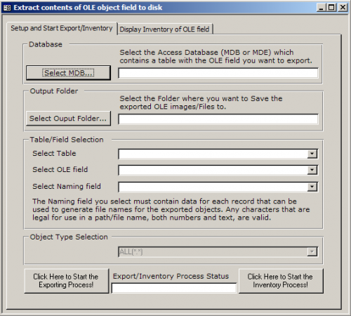 How to extract OLE object from MS Access database | dbaportal eu