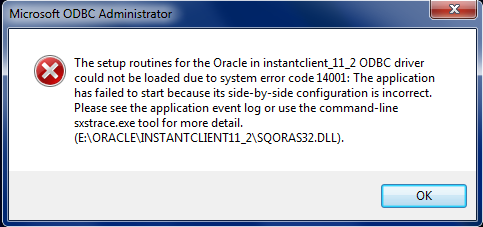SYSTEM ERROR 998 ORACLE ODBC WINDOWS 8 DRIVER DOWNLOAD