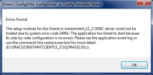 Oracle 32-bit ODBC on Windows 7 x64 | dbaportal eu