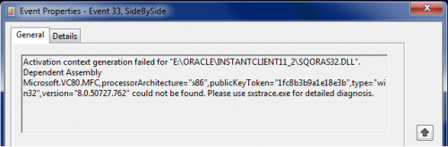 Oracle 32-bit ODBC on Windows 7 x64 | dbaportal eu