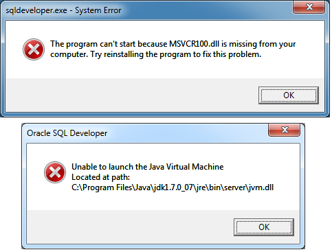 sqldeveloper64-error