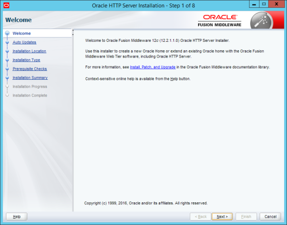 Installing Standalone Oracle Http Server 12c R2 (12 2 1 1