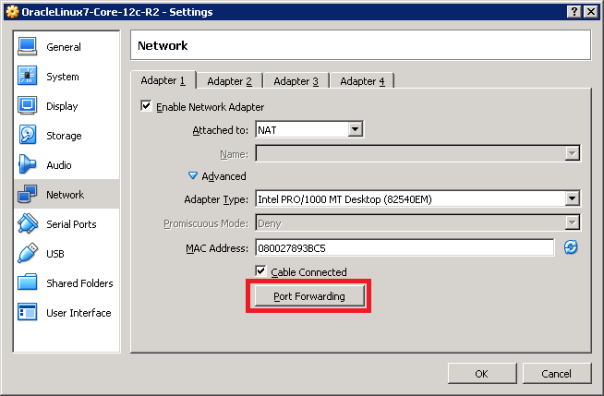 Using ssh tunneling to gain access to remote VirtualBox guest